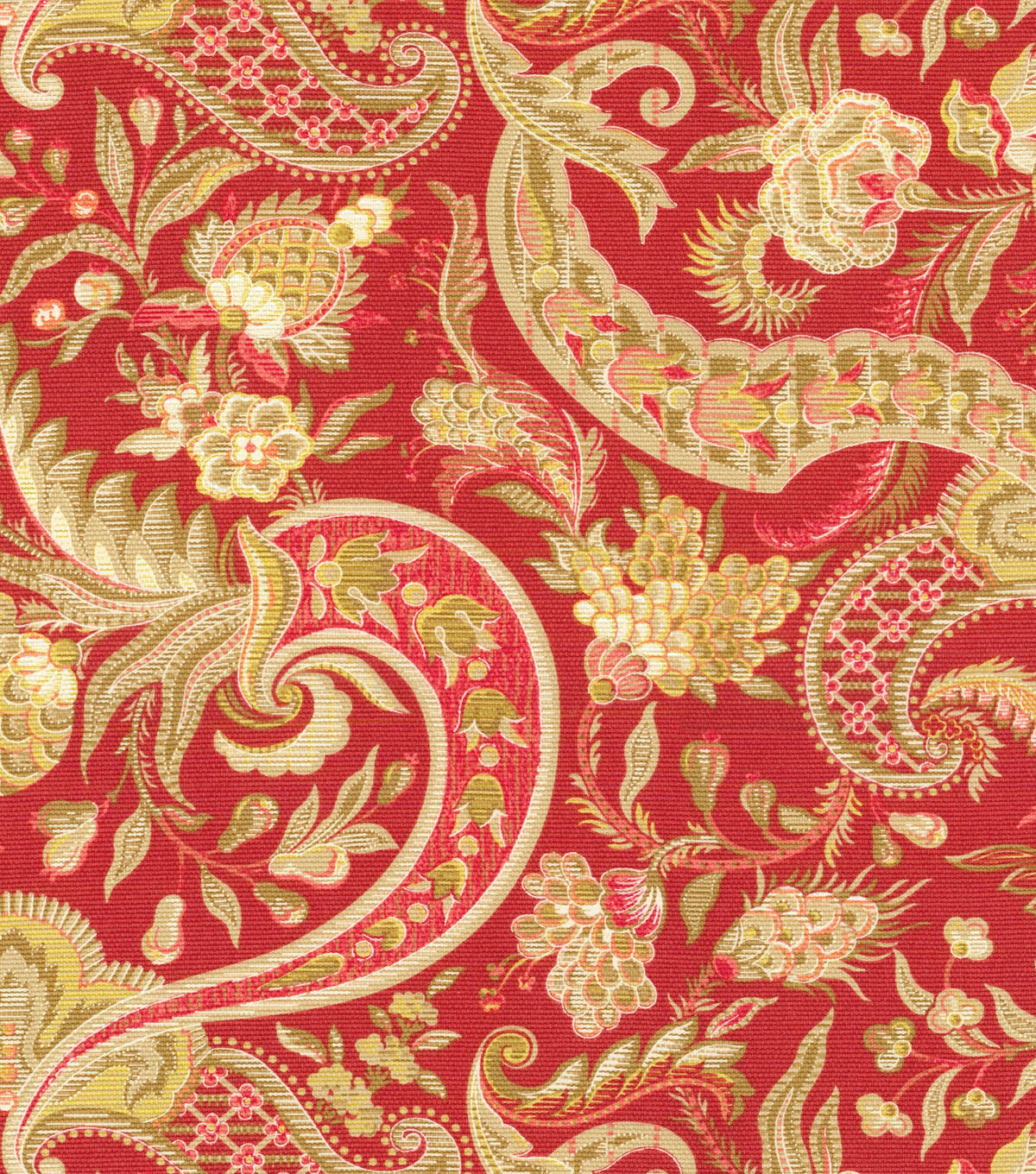 Waverly Print Fabric 54\u0022-Rhapsody/Crimson