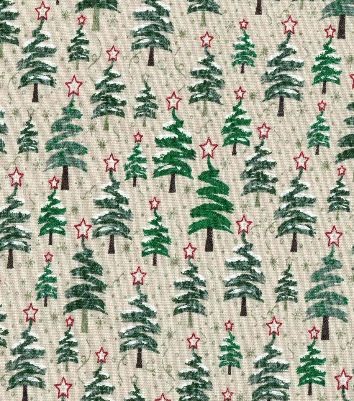 Christmas Cotton Fabric 43\u0022-Zig Zag Christmas Trees