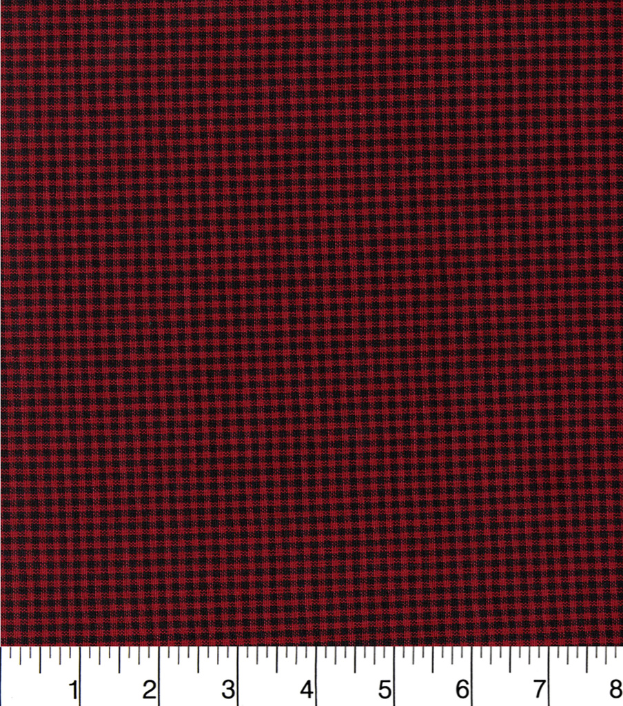 Homespuns Cotton Fabric-Red/Black Check