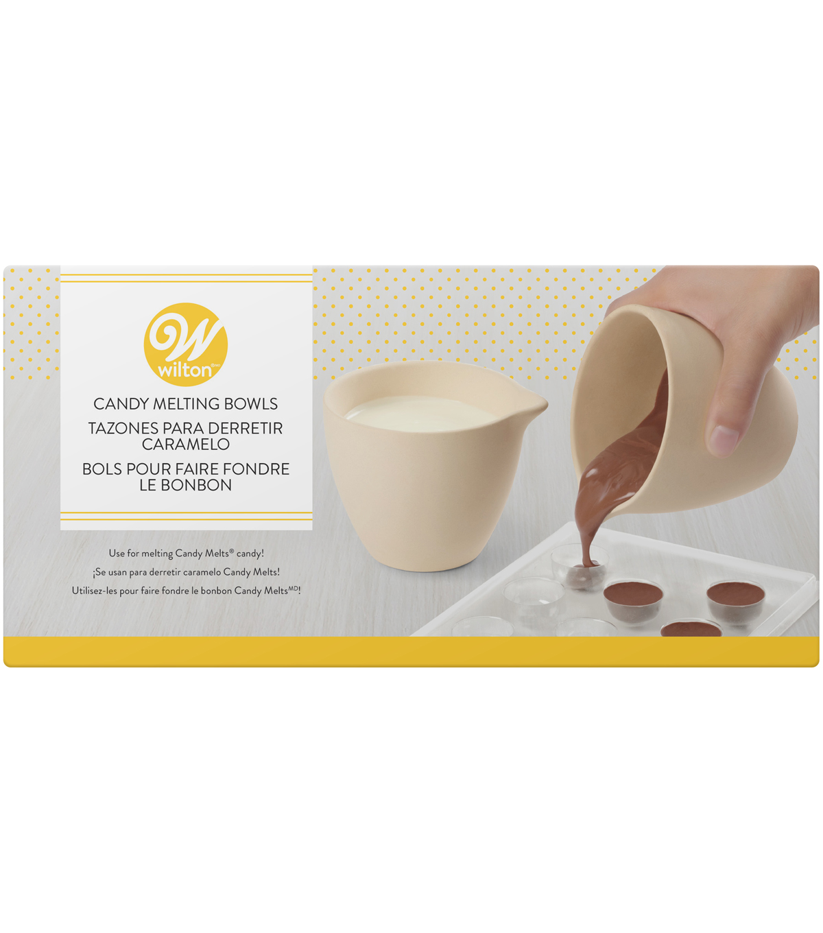 "Wilton® Ceramic Candy Melting Cups & Bowls 4""X3-1/2"""