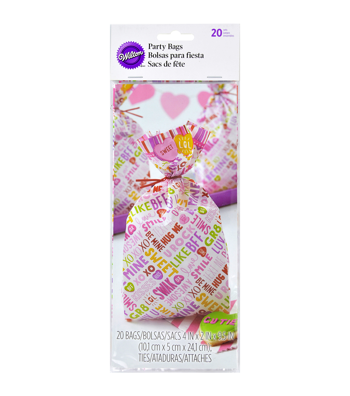 Wilton® Party Bags 4\u0022X9.5\u0022 20/Pkg-Words Can Express
