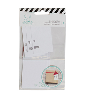 Heidi Swapp Gift Wrapping Tags-White