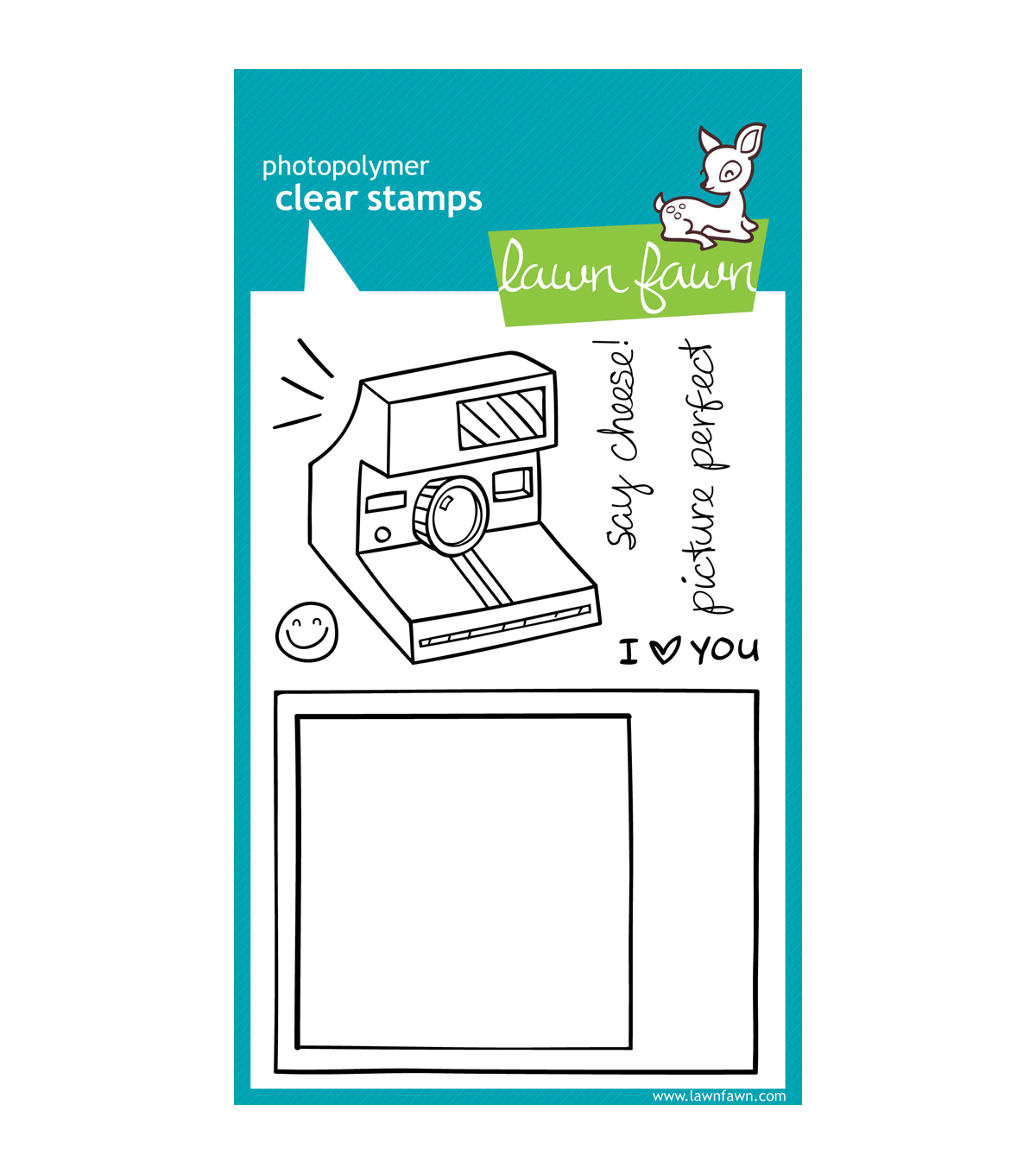 Lawn Fawn Clear Stamps 4\u0022X6\u0022-Say Cheese