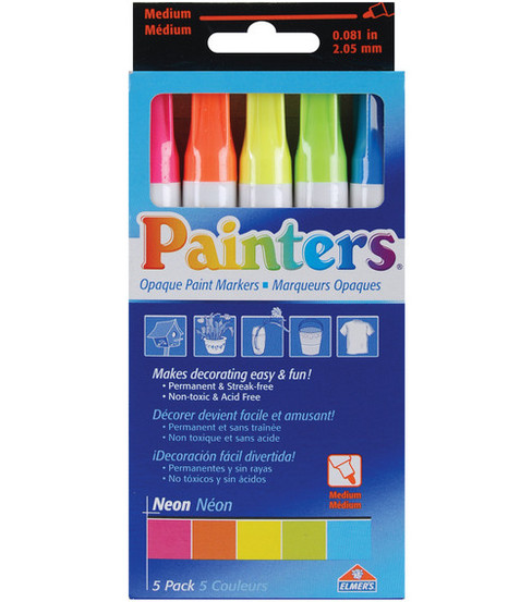 Opaque Paint Markers Med Tip 2.05mm 5/Pkg