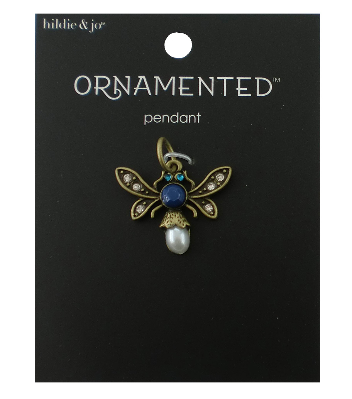 hildie & jo™ Ornamented Bug Antique Gold Pendant-Crystals & Pearls