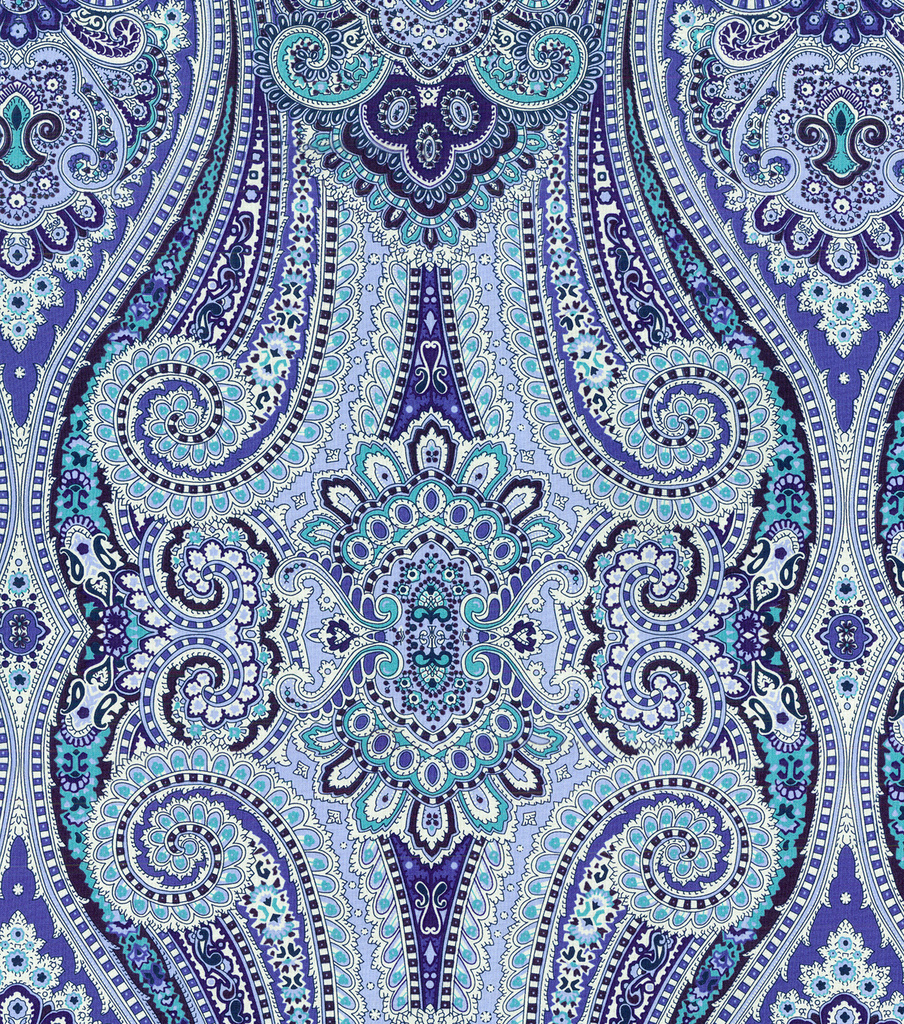 Paisley Pizzazz/delft Swatch