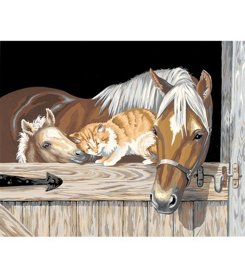 "Dimensions Paint By Number Kit 20""X16""-Stable Pals"