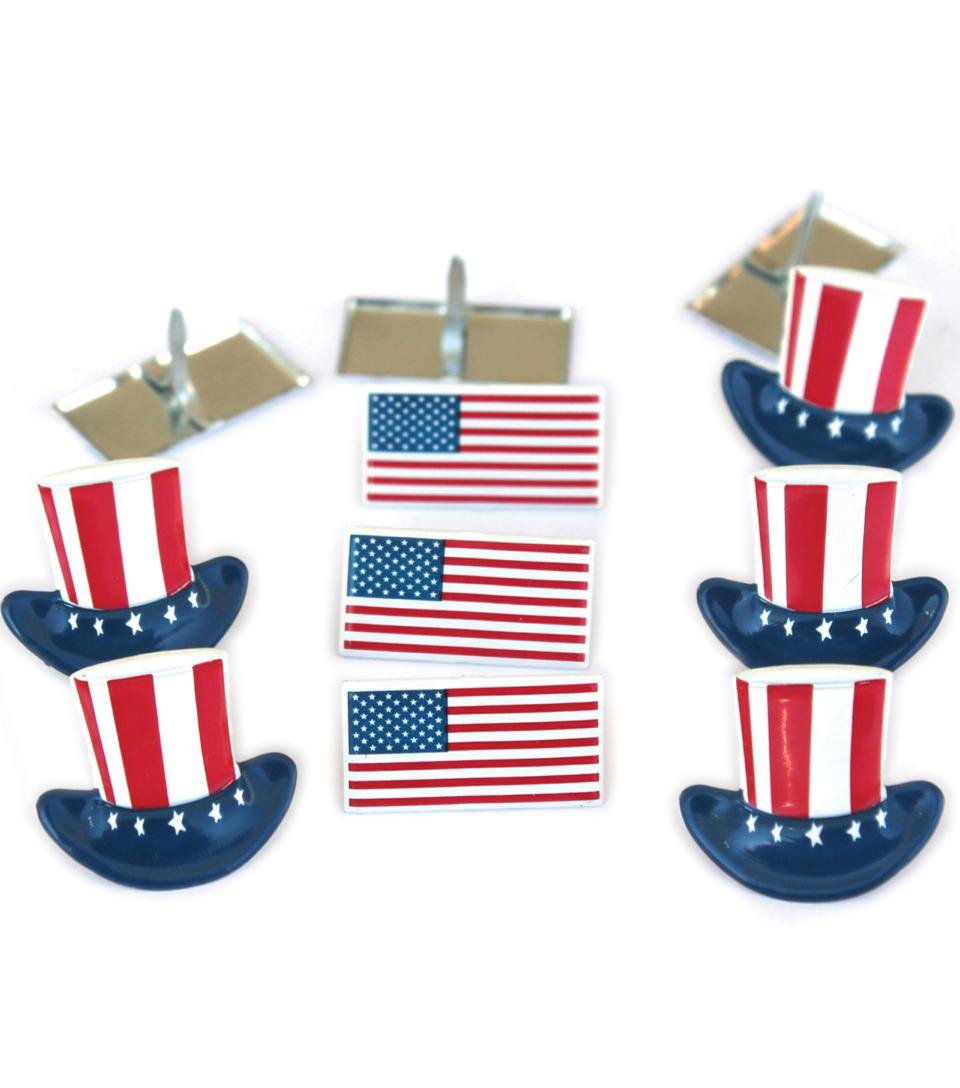 Eyelet Outlet Shape Brads-Flags & Hats