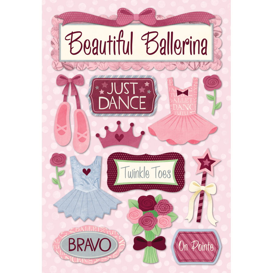 Karen Foster Ballet Cardstock Stickers Just Dance