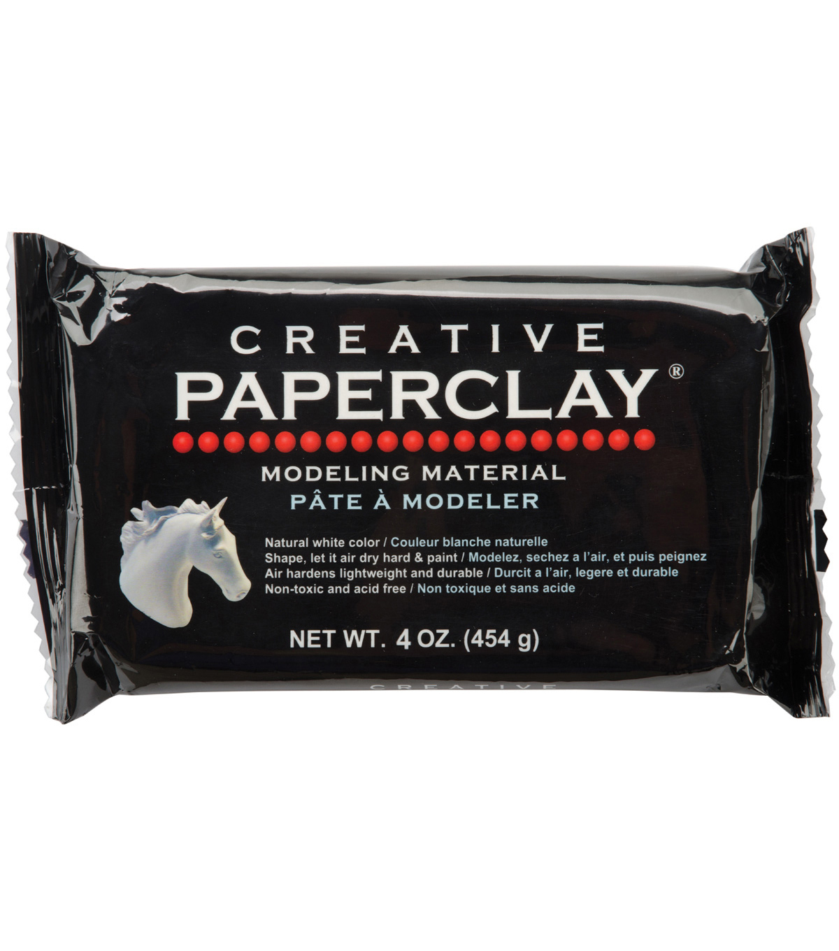 Creative Paperclay 4 Ounces-White