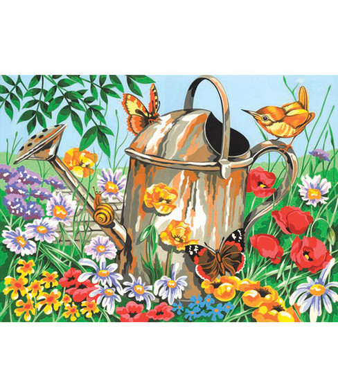 12\u0022x15-1/2\u0022 Paint By Number Kit-Watering Can
