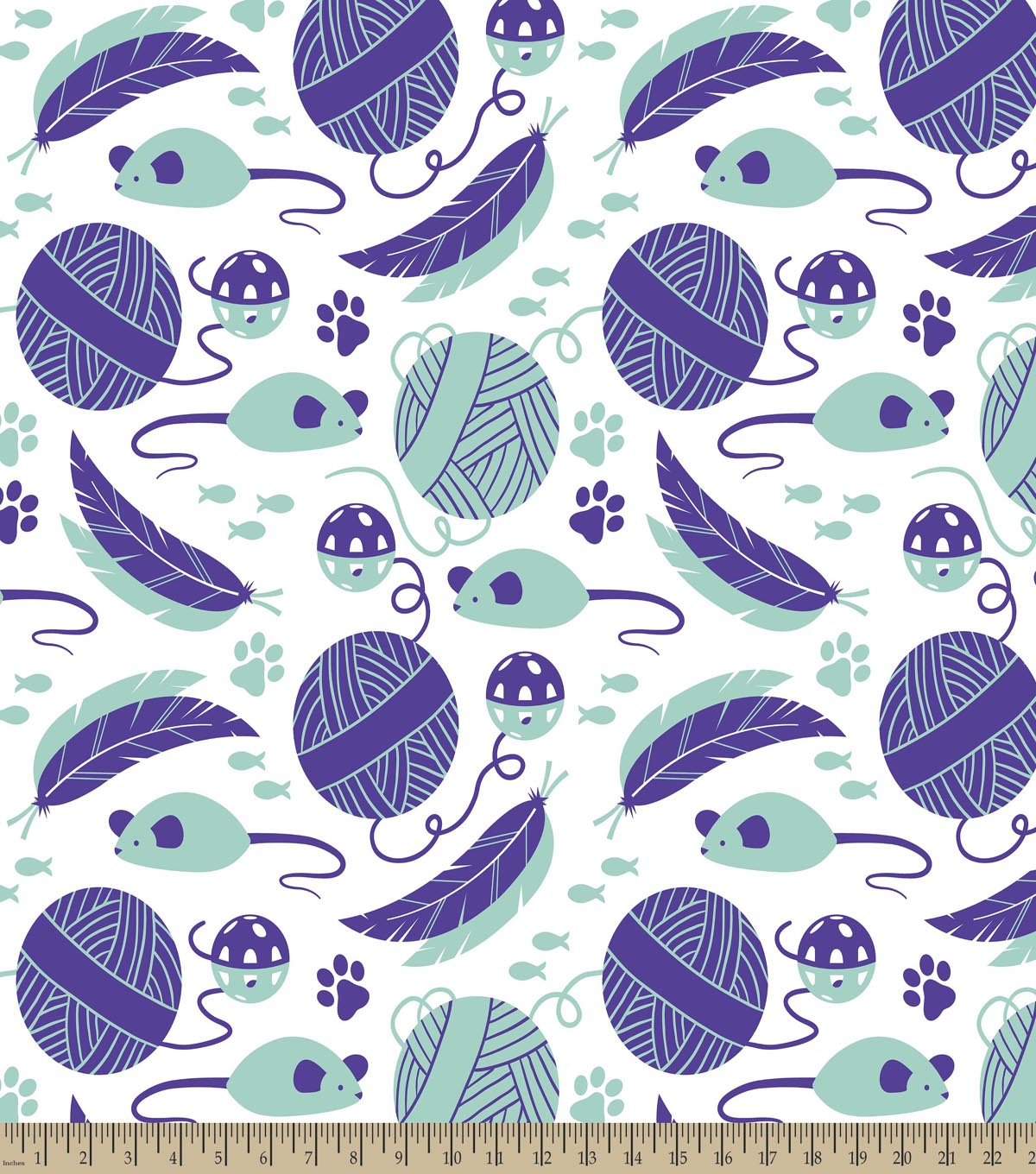 Blue Mouse Toys Print Fabric