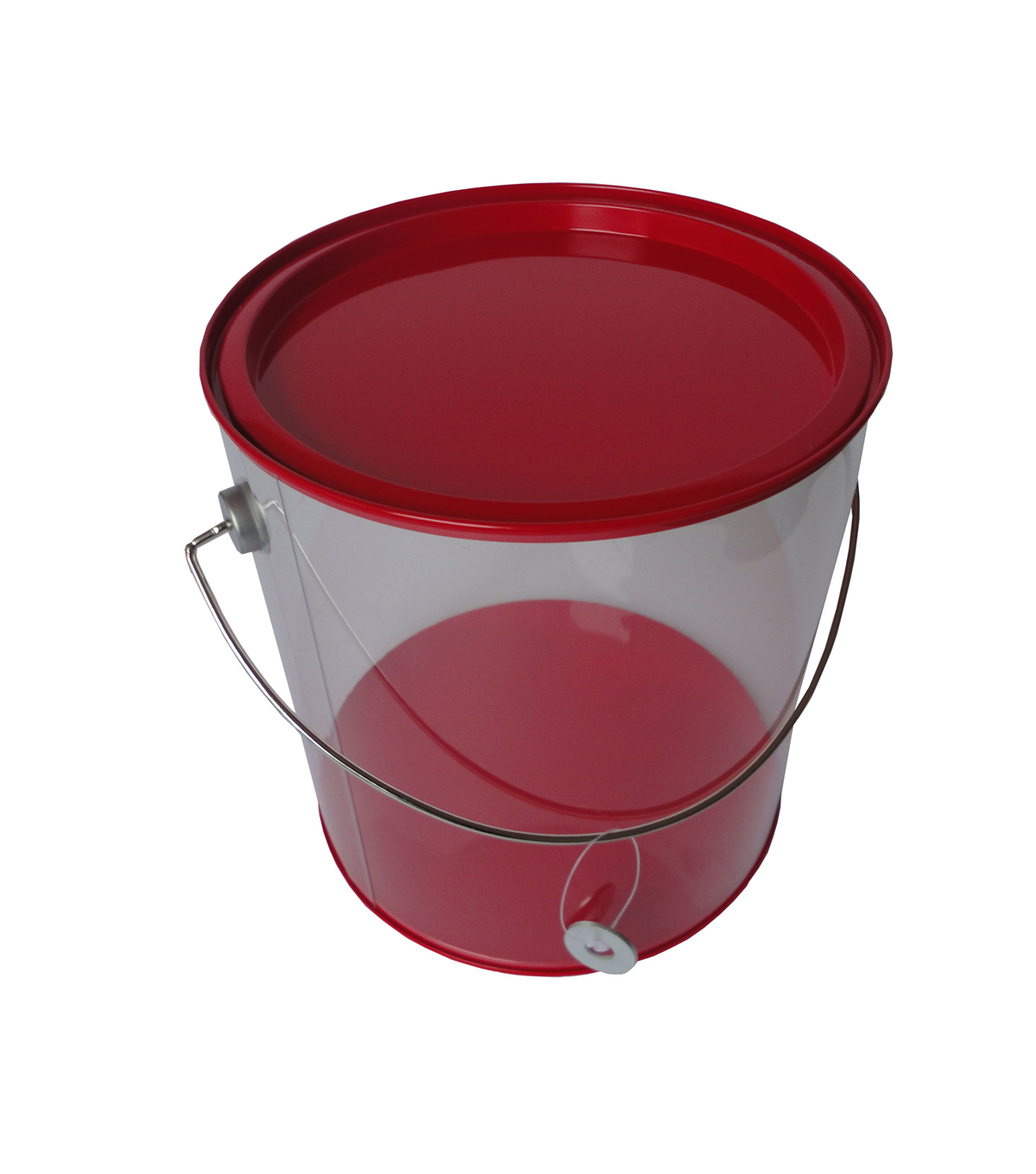 LG PLASTIC PAINT CAN TIN LID RED