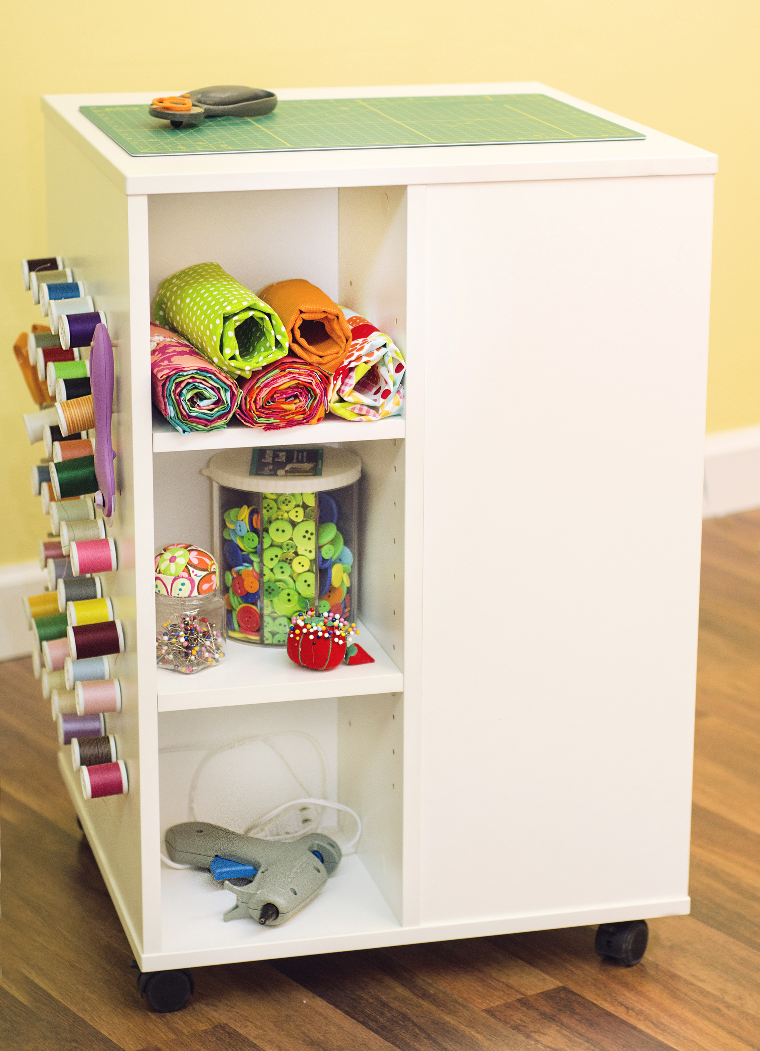 Sewing & Crafting Storage Cube Table