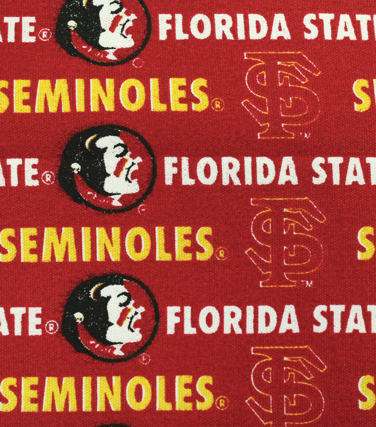Florida State University Seminoles Canvas Fabric 58\u0022-Logo