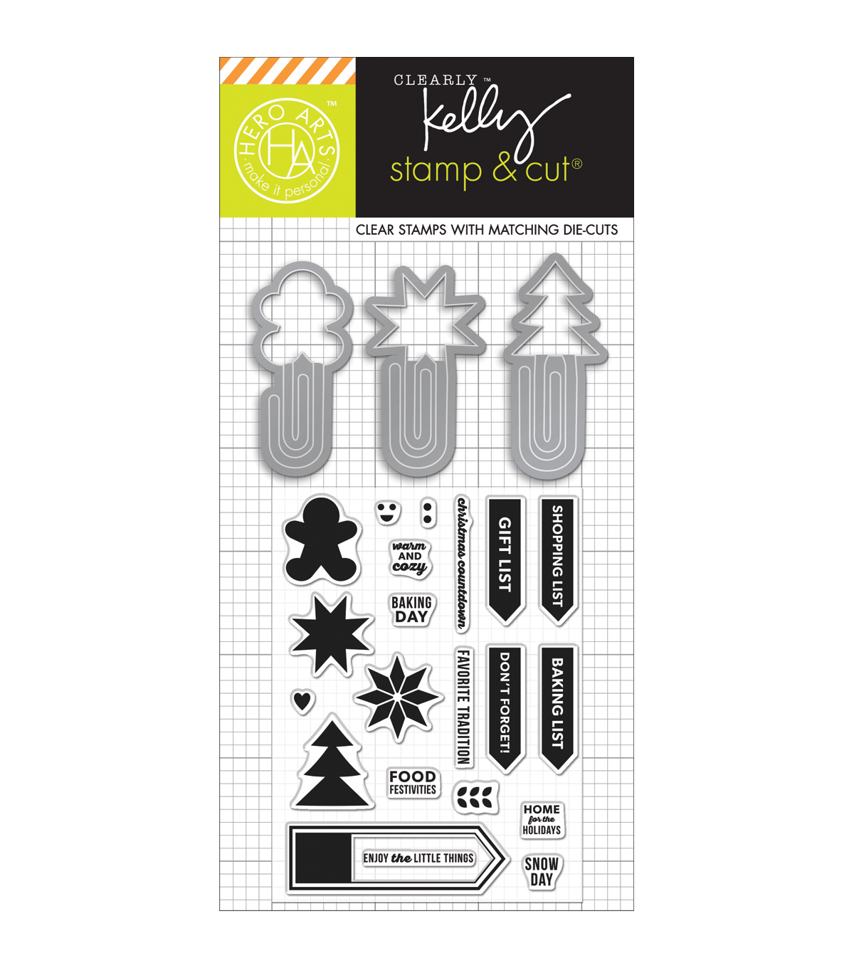 Hero Arts® Kelly Purkey Stamp & Cut-Holiday Clips
