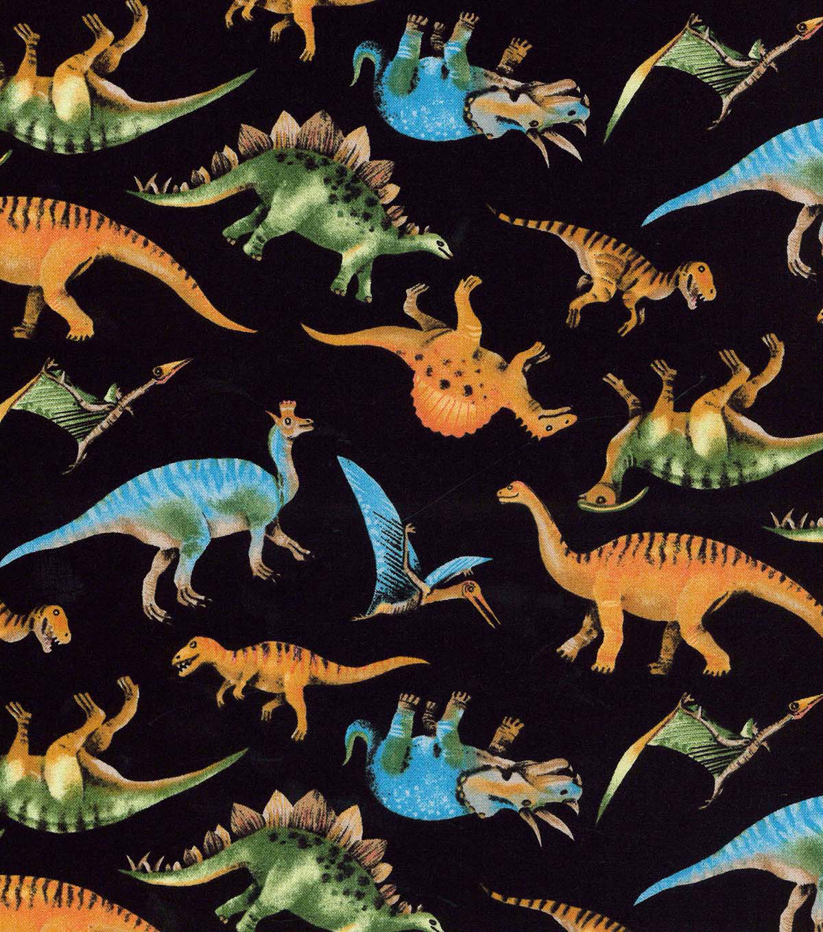 Novelty Cotton Fabric 43\u0022-Dino Allover