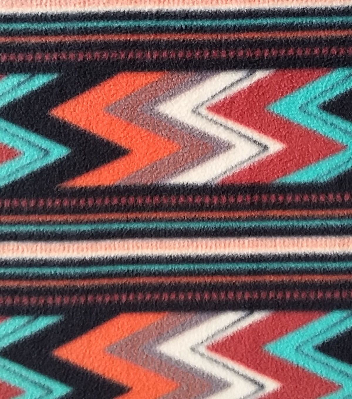 Anti-Pill Fleece Fabric 59\u0022-Chile Striped Chevron