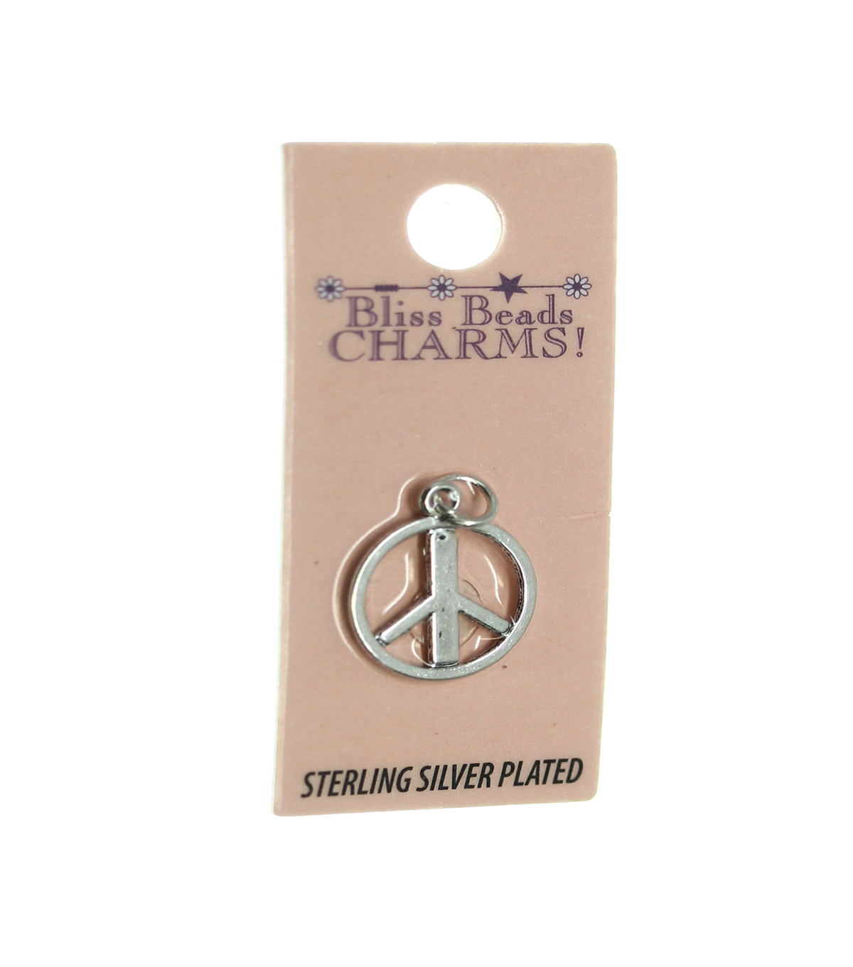 Silver Plated Peace Symbol Charm