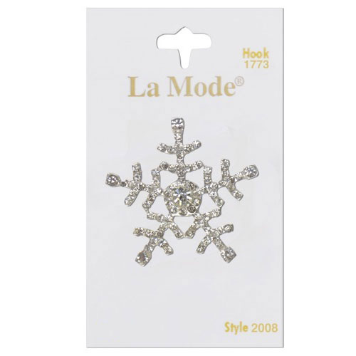La Mode Crystal Snowflake 1 3/8In