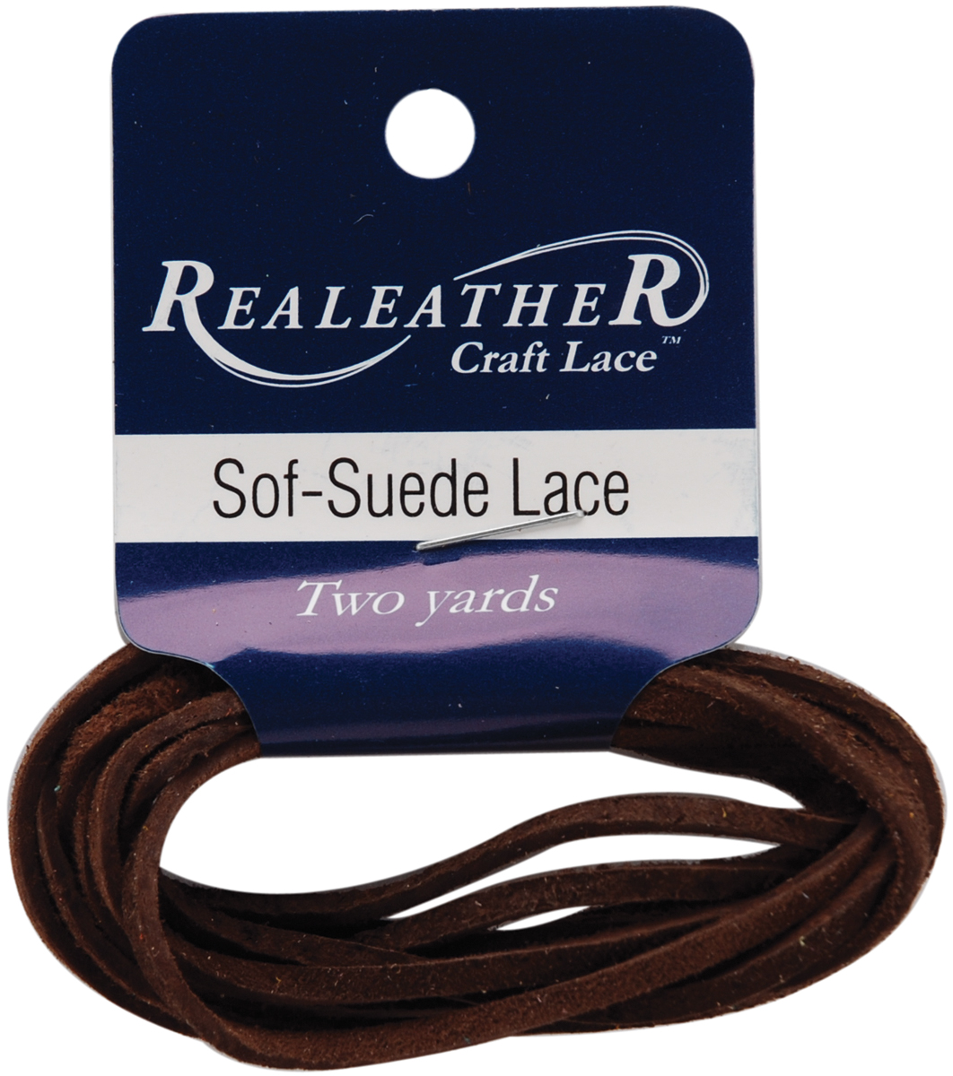 Sof-Suede Lace .094\u0022 Carded 2yd-Cafe