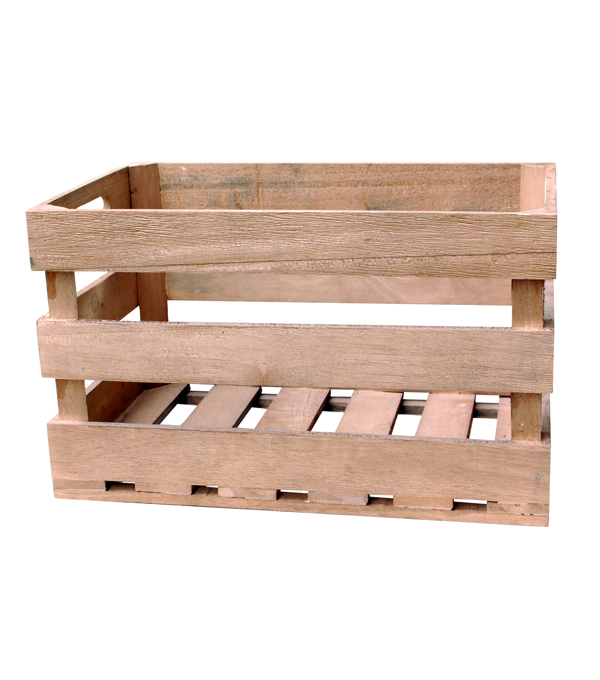 Large Wooden Slat Crate