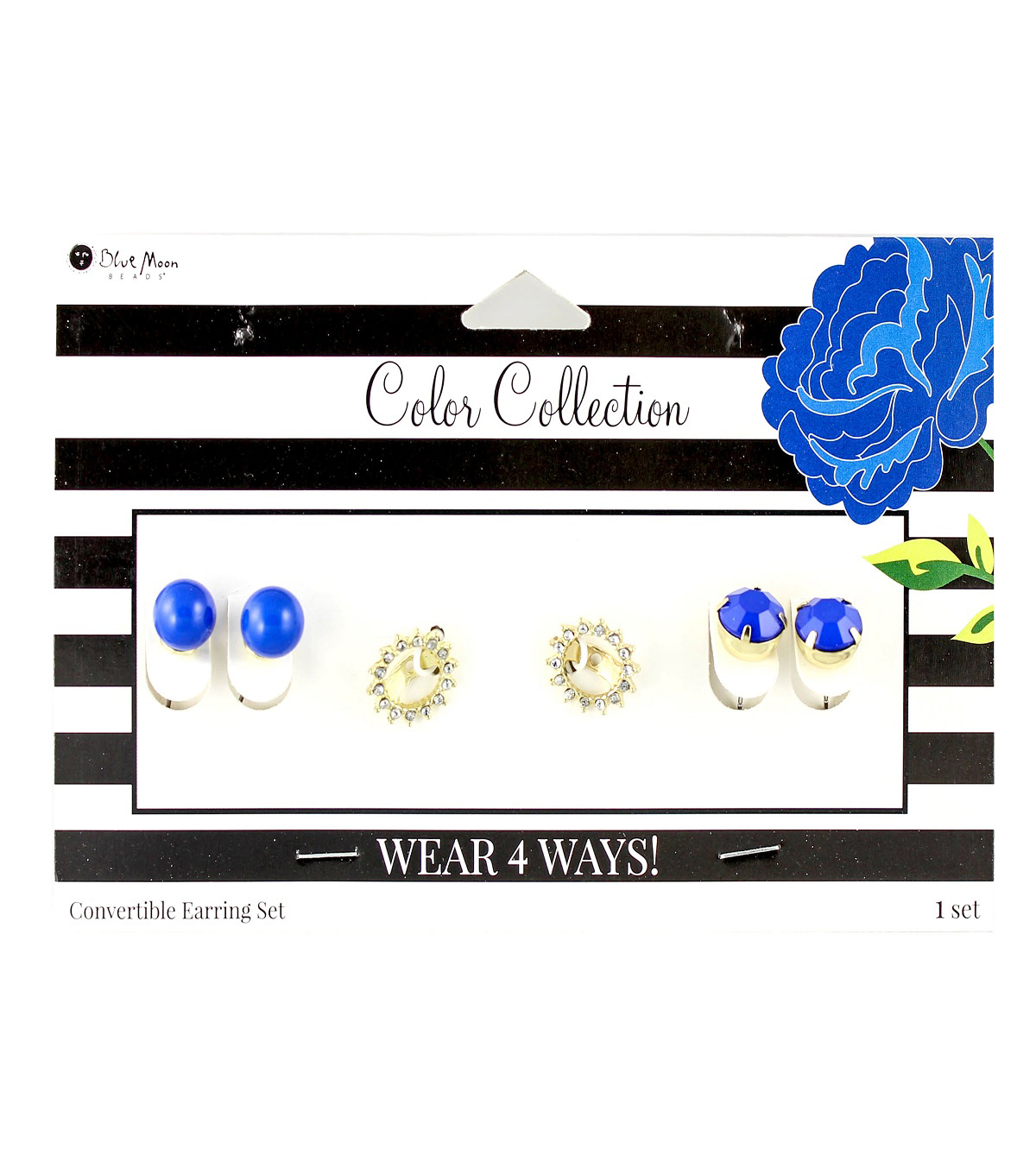 Blue Moon Beads Color Collection Earring Mix & Match Pack-Royal Gold