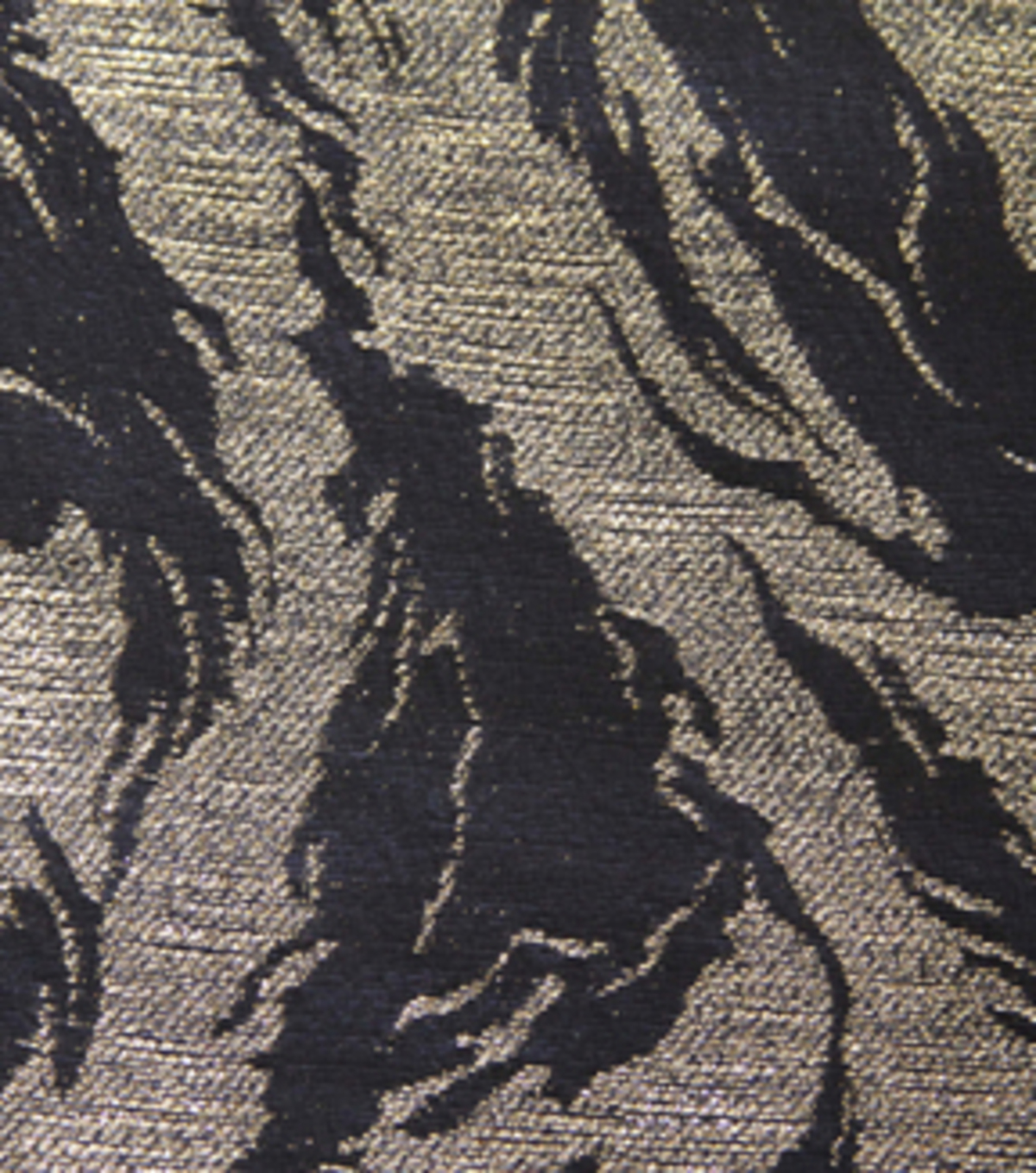 SUEDEsays Fabric- Deco Swirl Jacqd Black & Gold