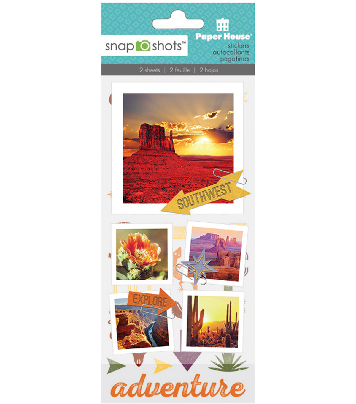 Snapshots Word Stickers-Southwest