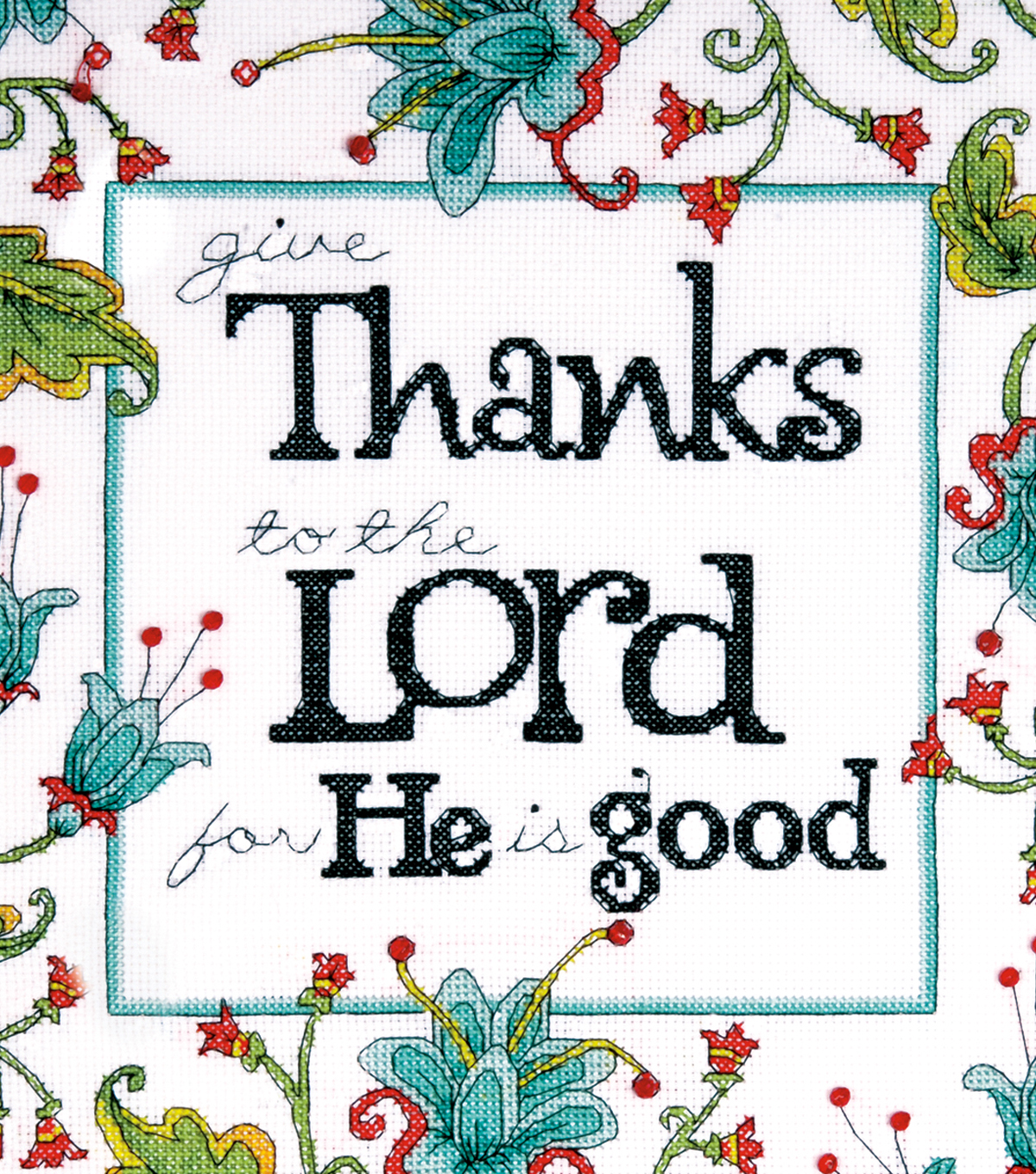 Heartfelt Give Thanks Counted Cross Stitch Kit 14 Count