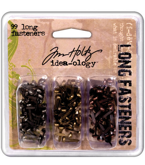 Tim Holtz Idea-Ology Long Fasteners Antique Metallic