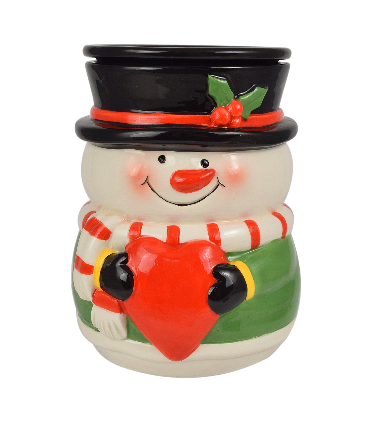 Maker\u0027s Holiday Snowman With Heart Warmer
