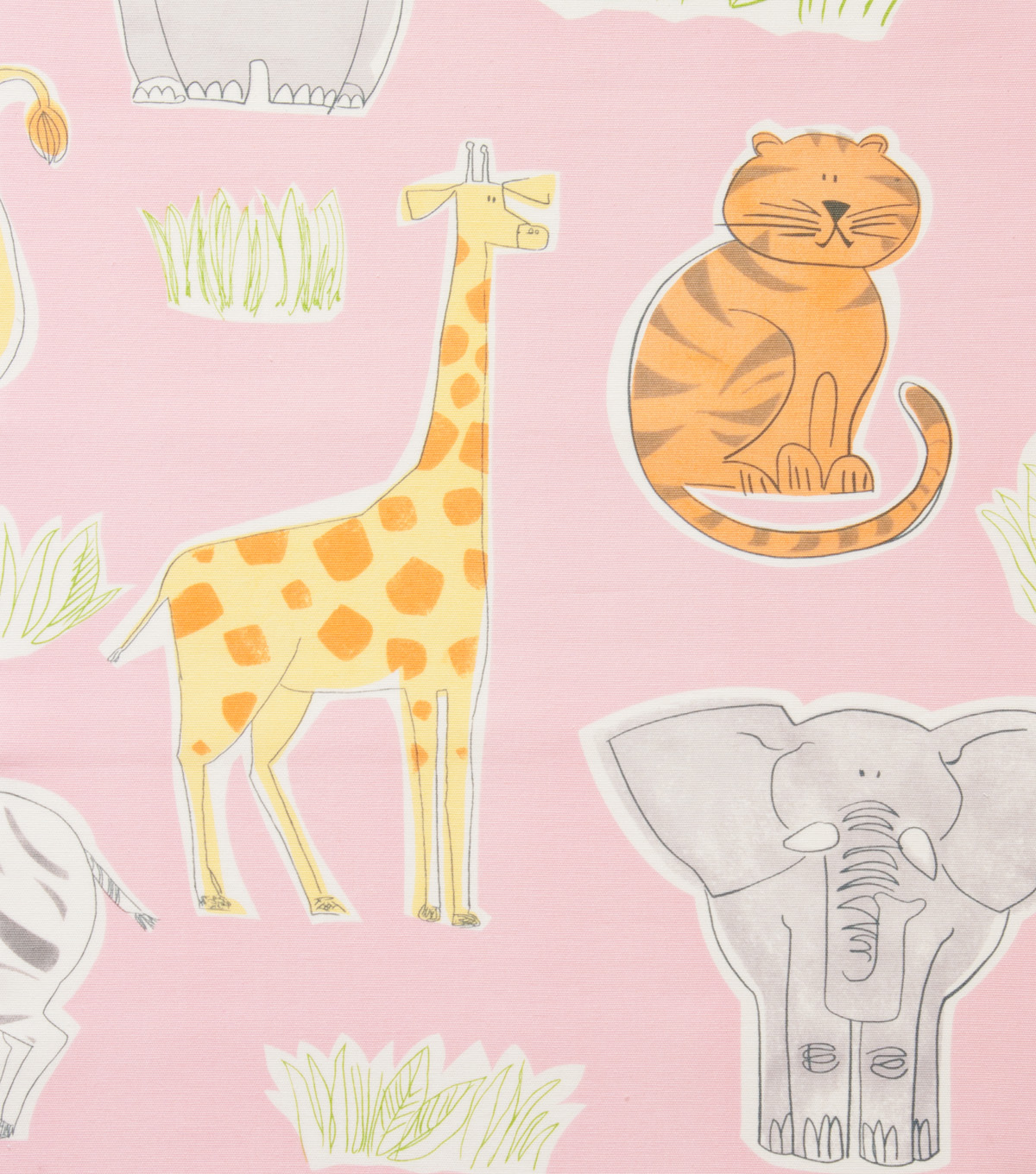 Alexander Henry Cotton Fabric 44\u0022-Bongo Jungle Pink