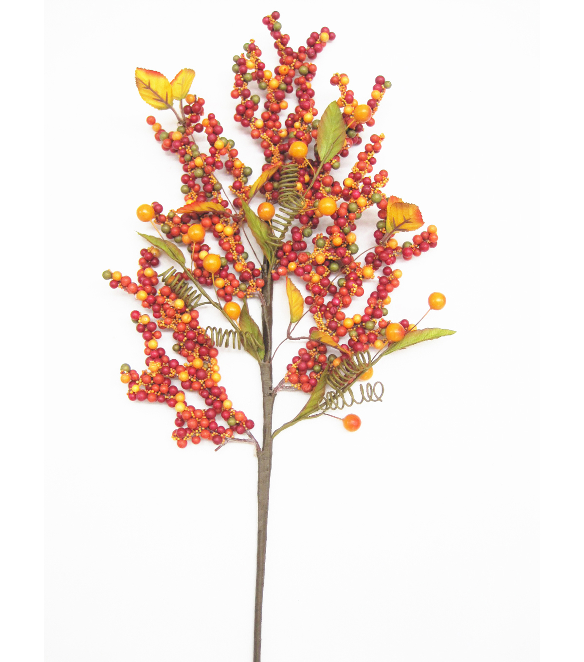 Blooming Autumn 29\u0027\u0027 Berry Spray-Red & Orange