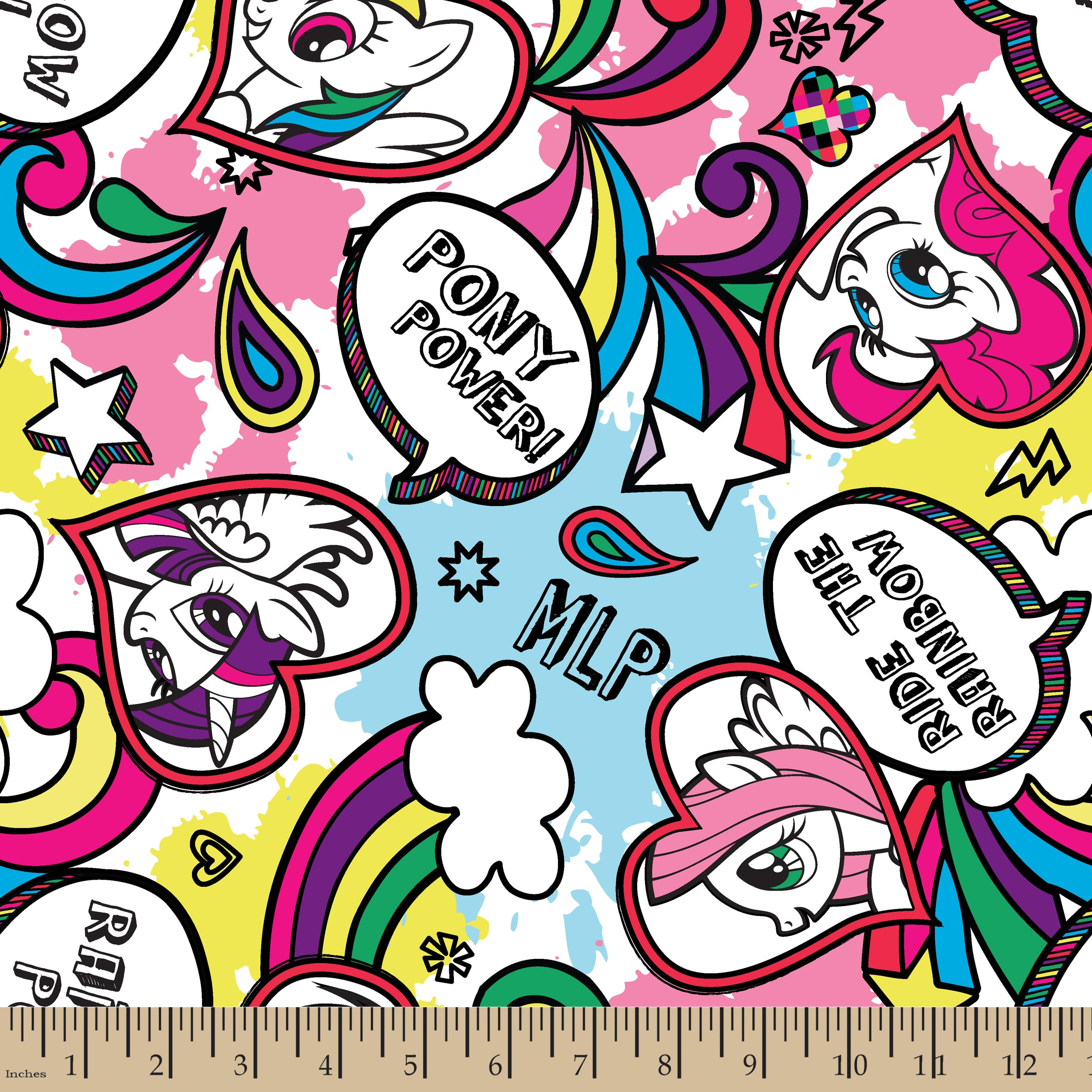 My Little Pony Doodle Fleece Fabric