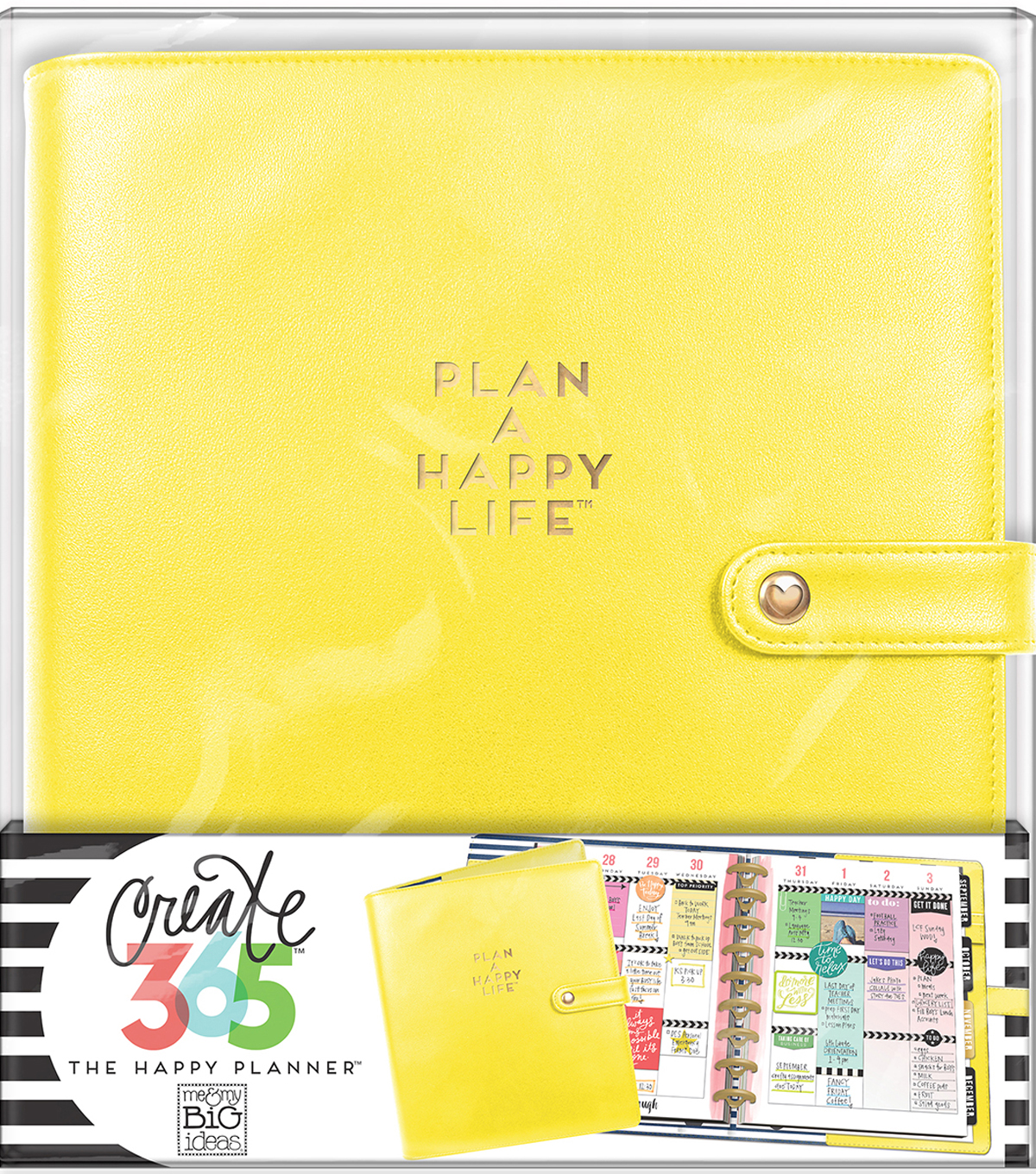 Create 365 Classic Deluxe Cover Planner-Sunshine Yellow