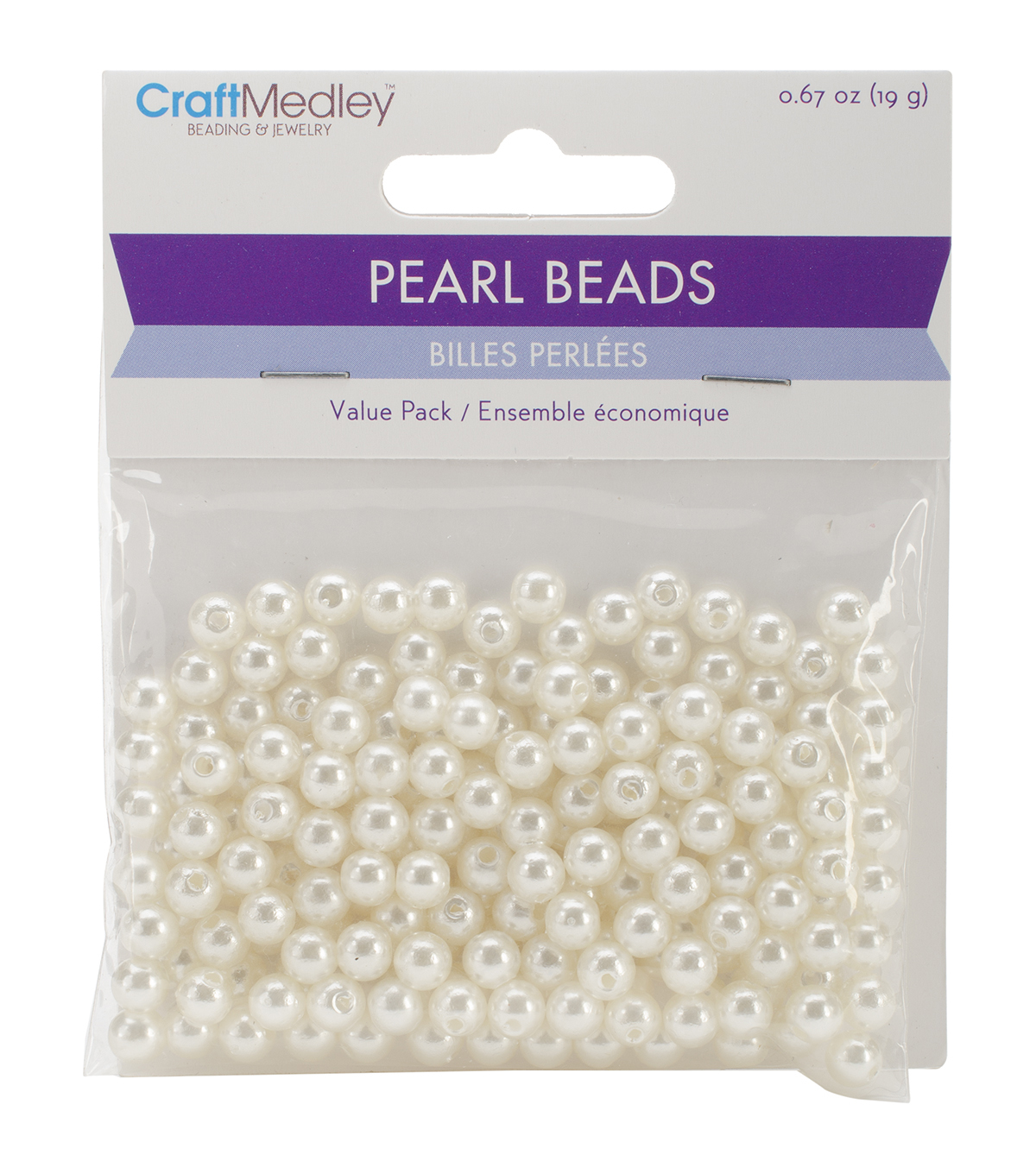 Craft Medley 6mm Pearl Beads Value Pack 185pk