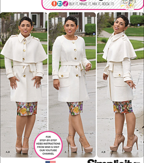 Simplicity Patterns Us1016Aa-Simplicity Misses\u0027& Plus Size Coat By Mimi G Style-10-12-14-16-18