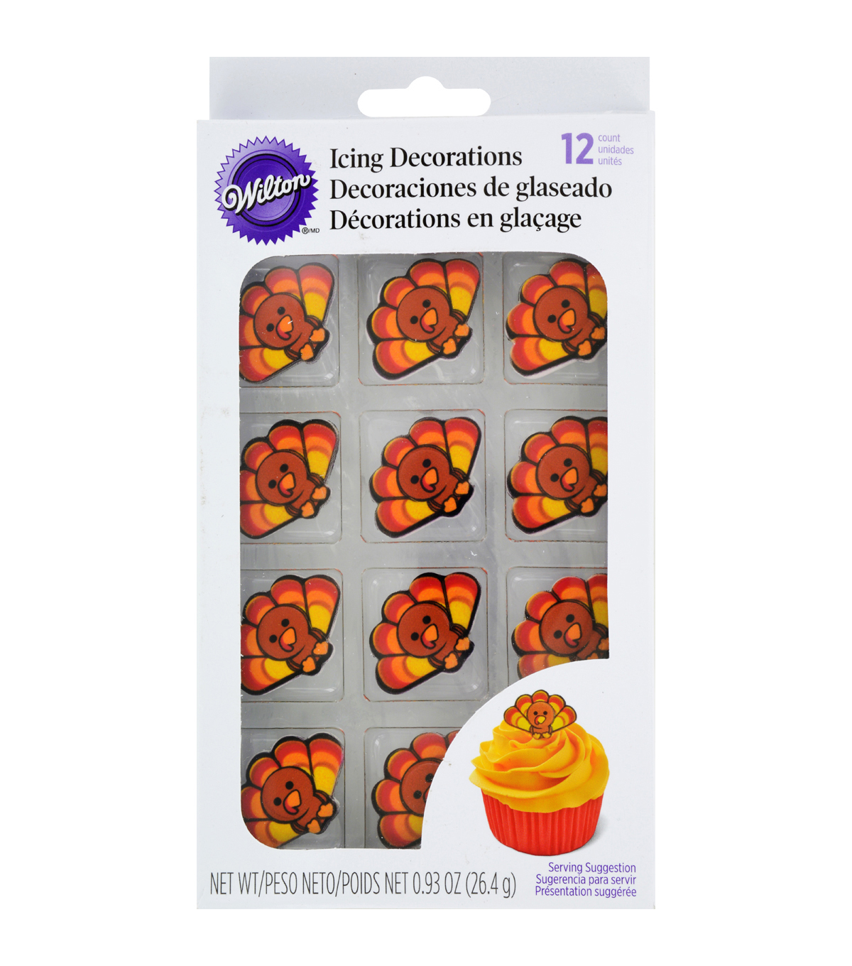 Wilton Royal Icing Decorations 12/Pkg-Turkey