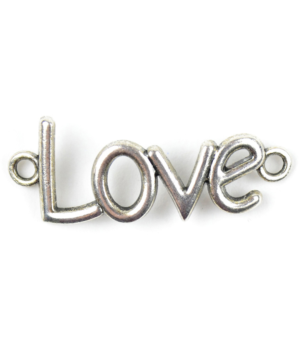 Midwest Design Paracord Silver ''Love'' Charm