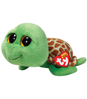 TY Beanie Boo Zippy Green Turtle