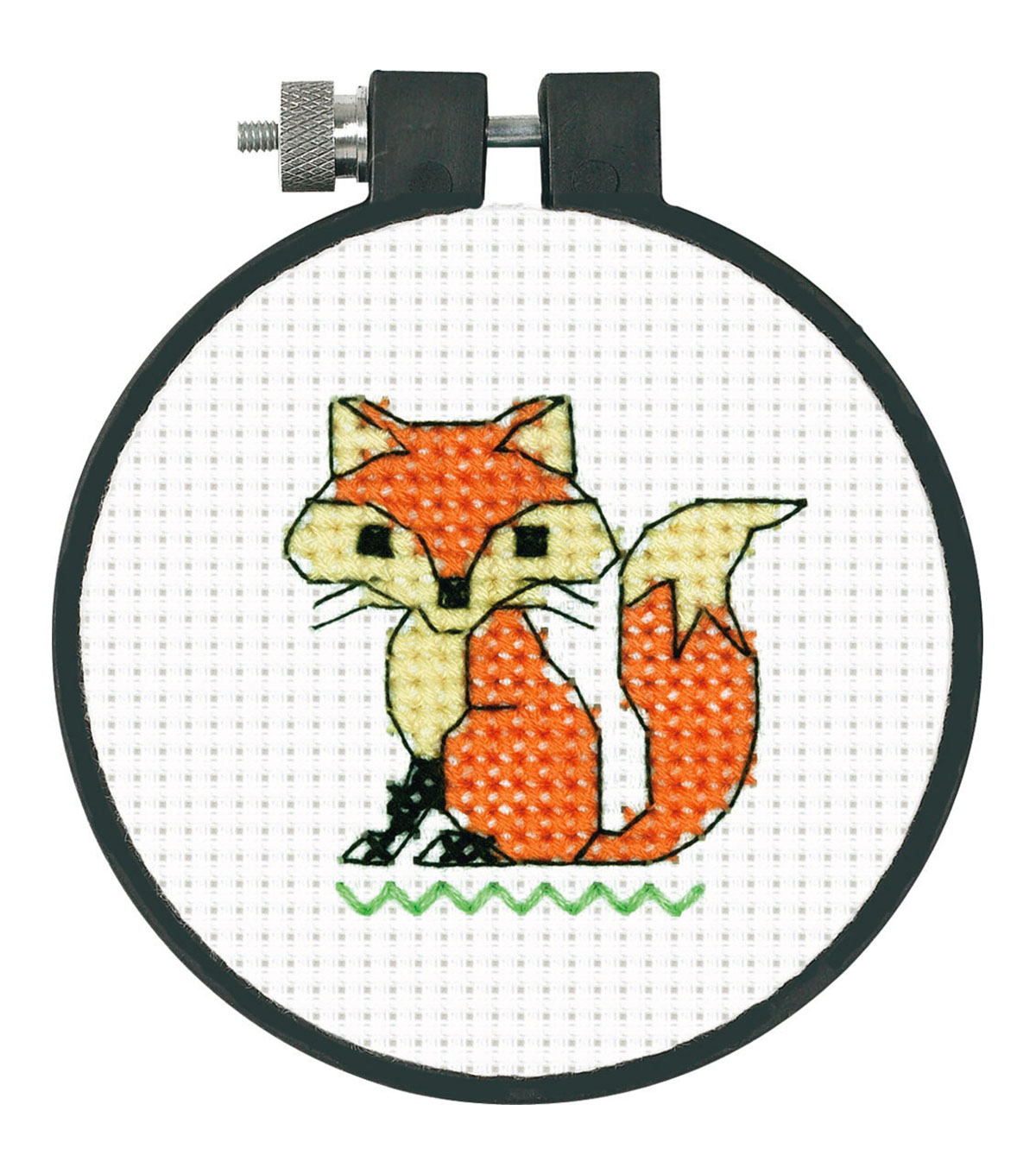 "Learn-A-Craft Fox Counted Cross Stitch Kit-3"" Round 11 Count"
