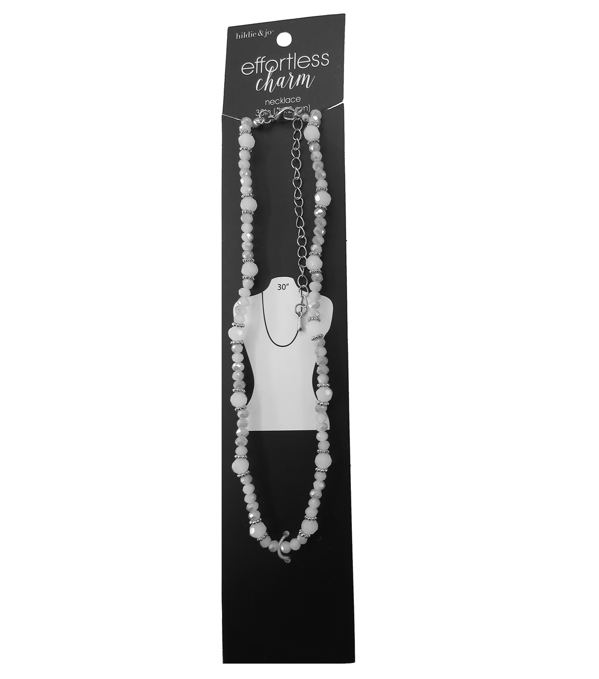 hildie & jo™ 30\u0027\u0027 Ivory Necklace-Stones & Silver Spacer Beads