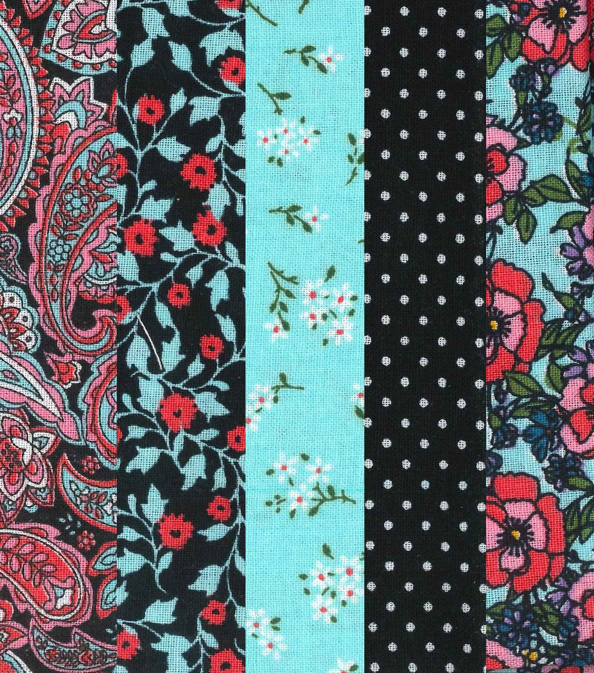 Jelly Roll Cotton Fabric 20 Strips 2.5\u0027\u0027-Vintage Floral