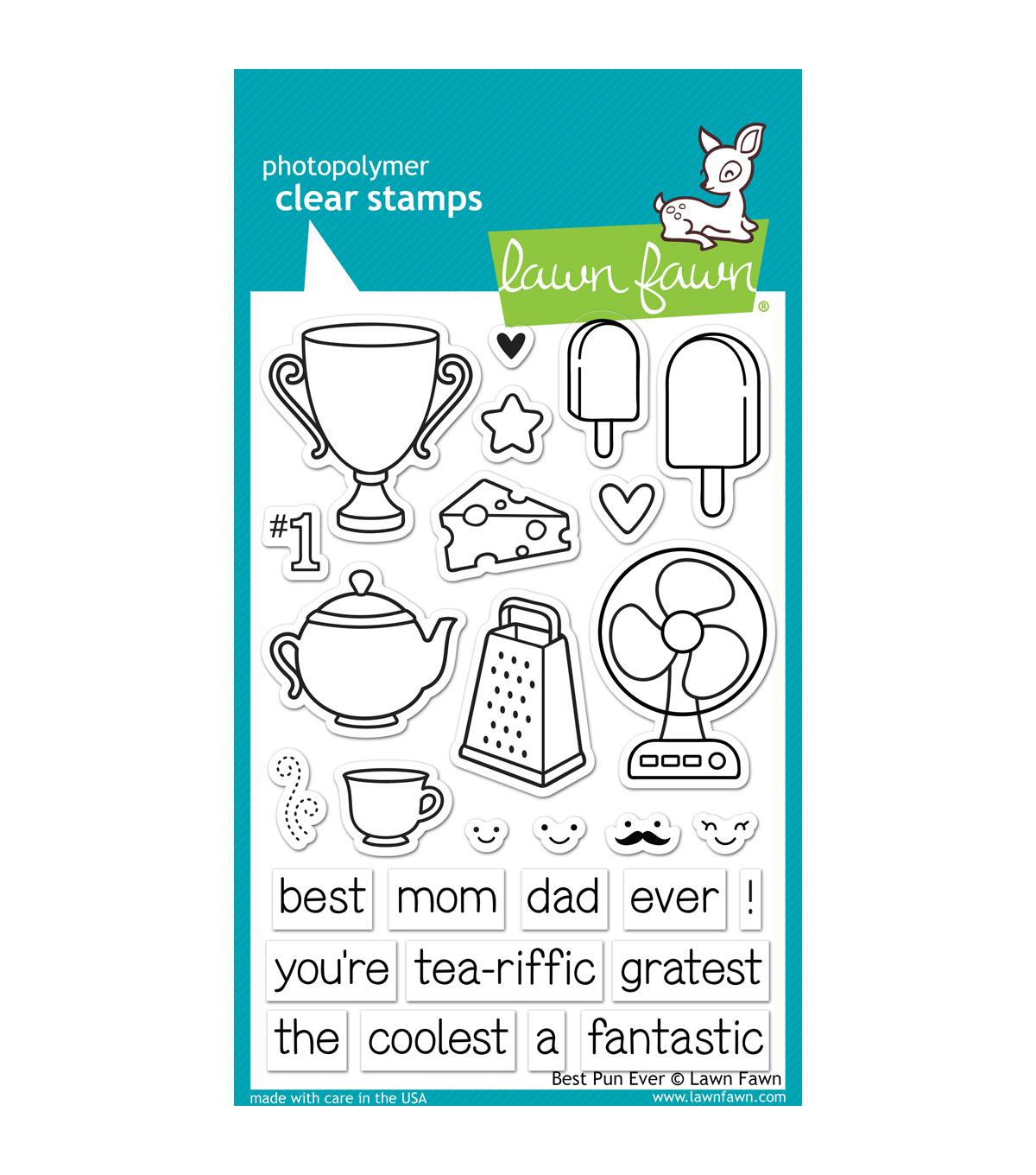 "Lawn Fawn Clear Stamps 4""X6""-Best Pun Ever"