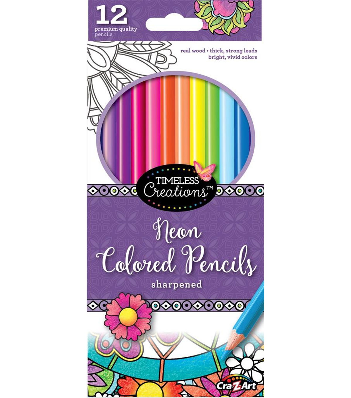 Timeless Creations 12ct Neon Colored Pencils