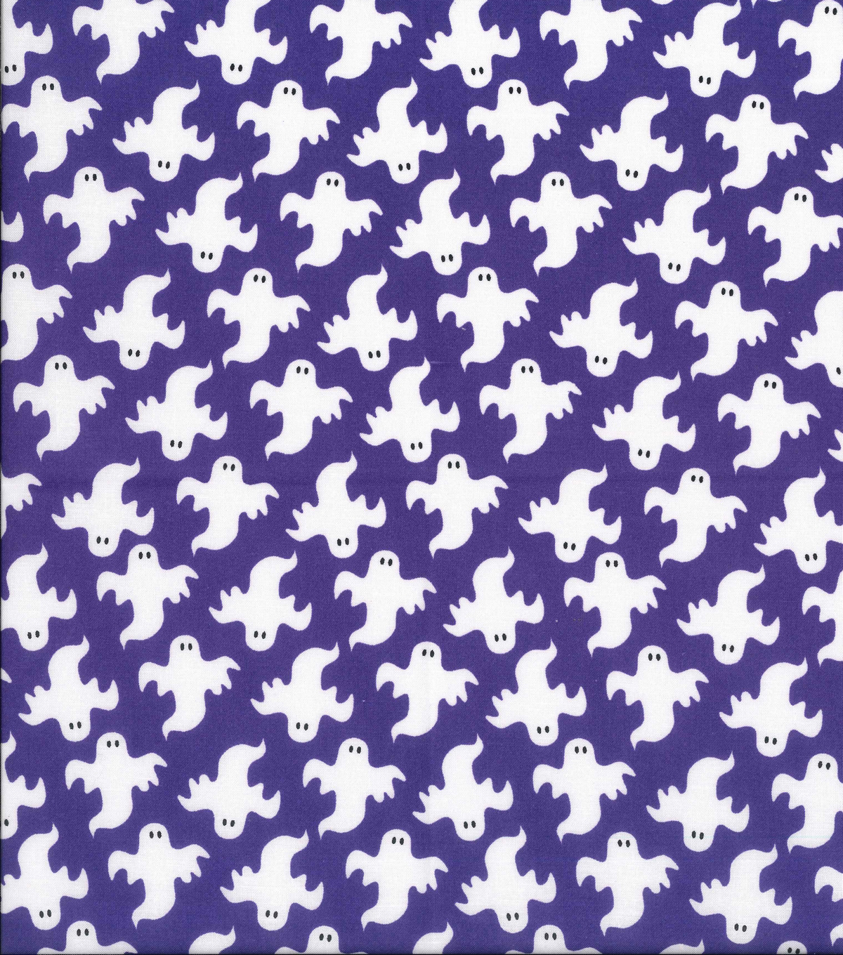Halloween Cotton Fabric 43''-Large Ghosts on Purple
