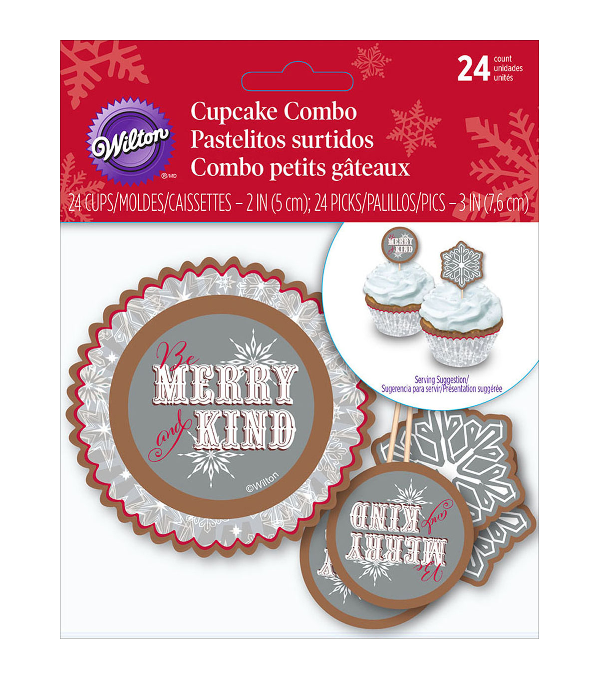Wilton® 24-Piece Cupcake Combo Pack-Snowflake Wishes