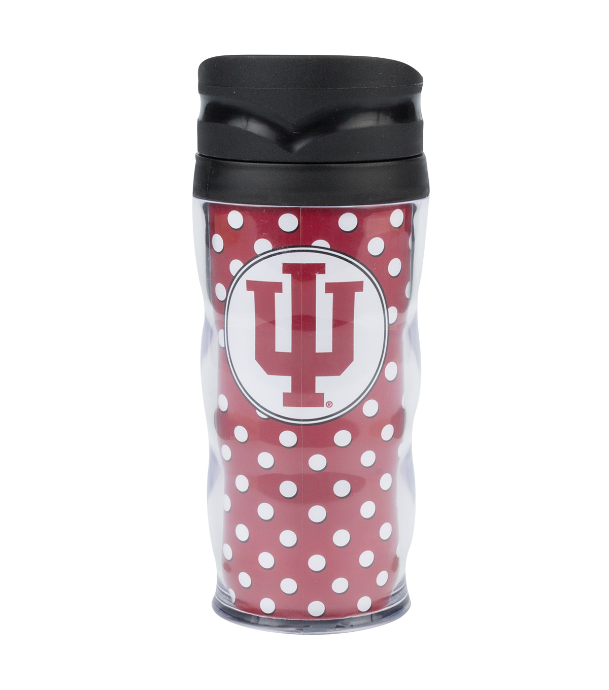 Indiana University Polka Dot Travel Mug