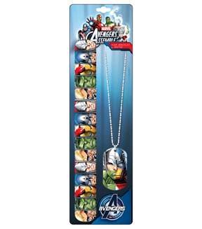 Avengers Dog Tag and Necklace
